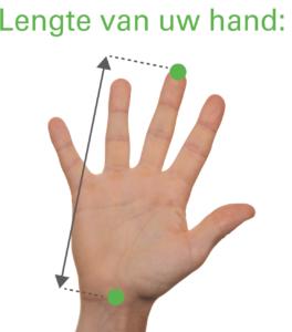 Meet uw hand voor de juiste maat wireless muis